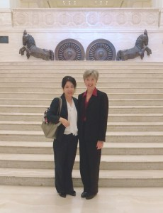 Elaine Shaw and Sophia Qiao in India