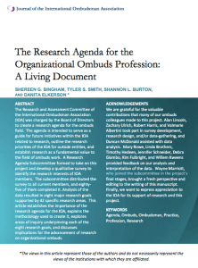 JIOA Article - Research Agenda